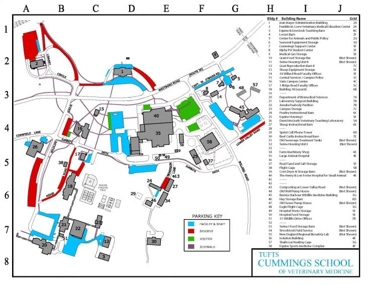 Tufts Campus Map Parking Maps   Transportation, Parking and IDs