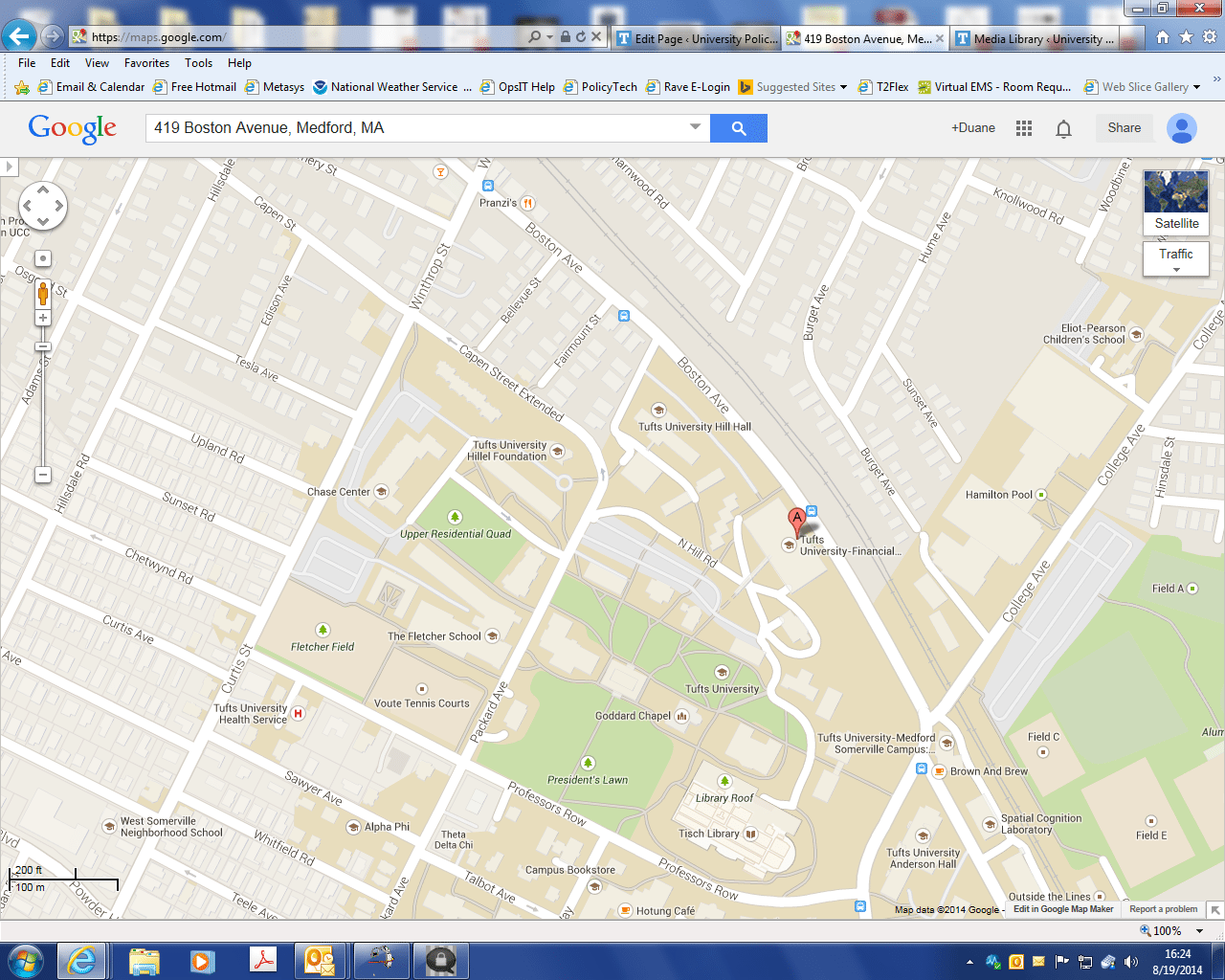 Tufts Medford Campus Map.Tufts Police Medford Somerville Campus Location University Police