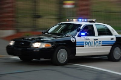 Police Cruiser with blurry background